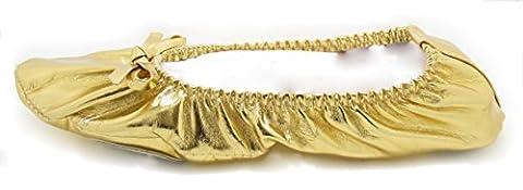 Turkish Emporium Bauchtanz Schläppchen Kostüm schuhe (39, Gold) (Über Bauchtanz Kostüme)