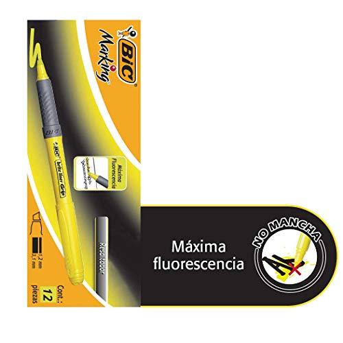 BIC Highlighter Grip Marcadores punta biselada Ajustable