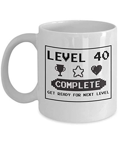 DILIGARM Happy 40th Birthday Mug Gaming Geek 1977