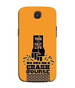PrintVisa Designer Back Case Cover for LG K3 :: LG K3 Dual K100 LS450 (Quote message statement words life)
