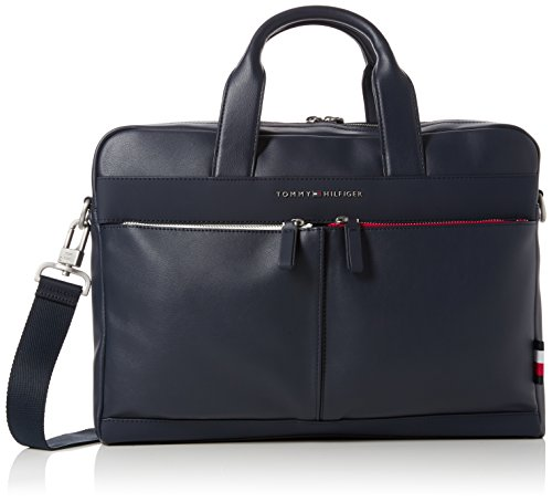 Tommy Hilfiger Herren Th City Computer Bag Laptop Tasche, Blau (Tommy Navy), 7.5x28.5x38.5 cm
