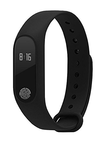 JOKIN Smart Bracelet / Fitband with Heart Rate Monitor OLED Display Bluetooth 4.0 Waterproof Sports Health Activity Fitness Tracker Bluetooth Wristband Pedometer Sleep Monitor Black Waterproof Smart Bracelet, Support Pedometer / Sleep Monitoring / Call Reminder / Clock / Remote camera / Anti-lost Function, Compatible OLED Display Compatible with Android or above (Black)