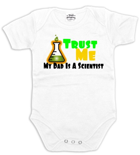 Rock Offspring Trust Me - My Dad Is A Scientist 700804 Unisex - Baby Baby Bodysuit 002 3-6 months