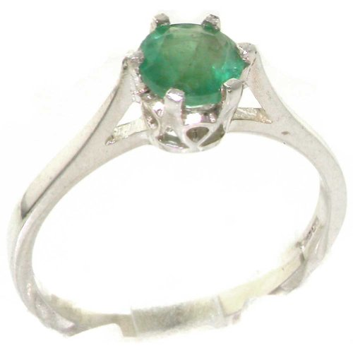 Anello donna in argento 925 sterling con smeraldo 0.5 carati - taglia 11 - altro taglie disponibili