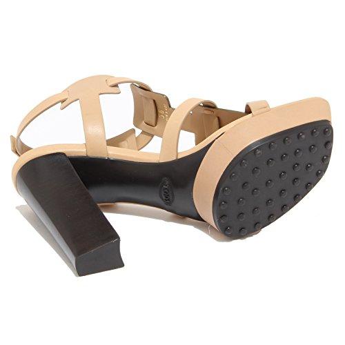 8595I sandali donna TOD'S selleria t11 scarpe shoes sandals women beige/argento