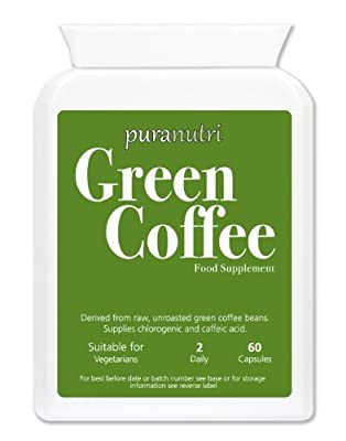 PURANUTRI Pure Green Coffee Extract 5000mg |Max Strength | UK Made | Suitable for Vegetarians. from Zestlife
