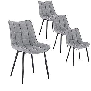 Set Esszimmerstühle AARHUS mit Beinen aus Massiv-Holz SGS geprüft
