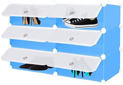 Kesser DIY Steckregal Schrank Kleiderschrank  Schuhschrank  Regalsystem  mit Abdeckung   Standregal...