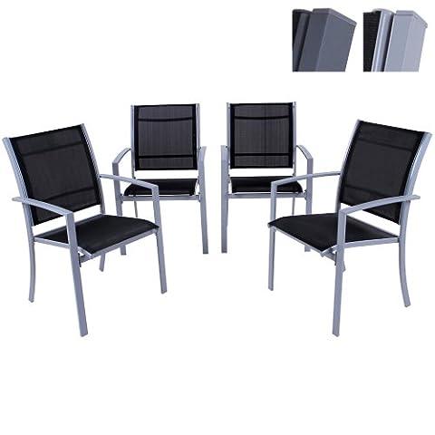 Miadomodo - Lot de 4 Chaises de Jardin Terrasse en