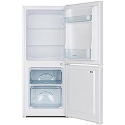 Klarstein Big Daddy Cool 100 - Combi réfrigérateur-congélateur, Réfrigérateur 73L, Congélateur 33L, 106 litres en tout, régleur de température, 2 étagères, ca. 47 x 112 x 49 cm (LxHxP), blanc