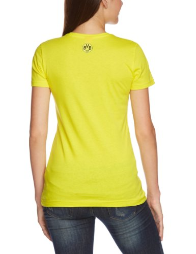 PUMA Damen BVB T Shirt Fan Tee Blazing Yellow/black