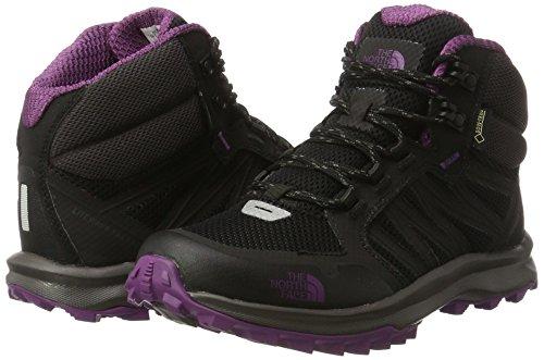 07bdd5b2b The North Face Women's Litewave Fastpack Mid Gore-Tex High Rise Hiking  Boots, Multicolour (TNF Black/Wood Violet), 5.5 UK 38.5 EU