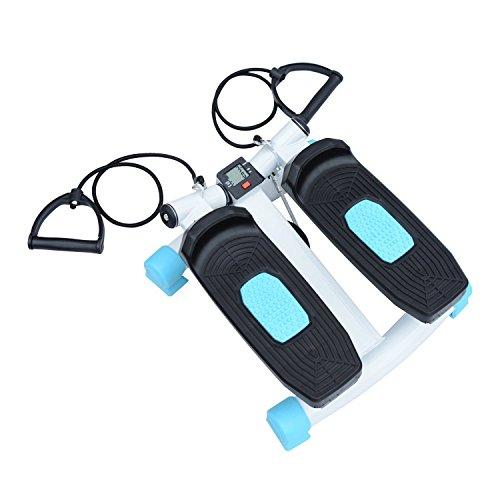 homcom Mini Stepper per Allenamento Fitness con Display, Corde da Training, 40 x 38 x 21.5cm