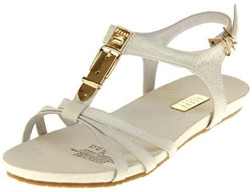 Sommer-Sandalen Aus Echtem Leder Weiß EU 39 ()