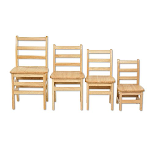 ECR4Kids 3-Rung Ladderback Assembled Chair