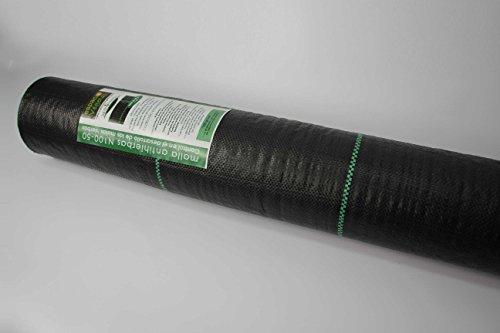 GRILLE ANTI-HERBES 100 gr, 50 m2, pour contrôler le développement des mauvaises herbes. Présentation en rouleau.