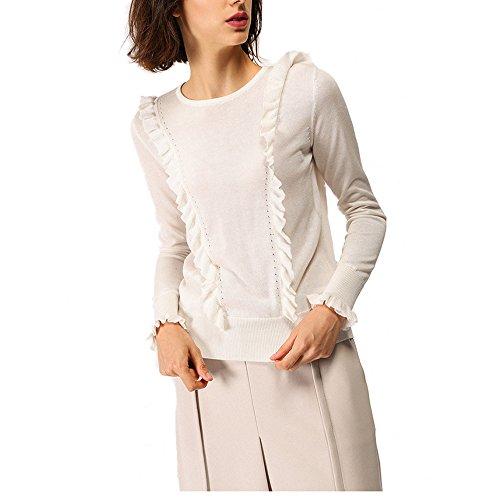 CICI RAN Frauen Herbst Winter Langarm Rüschen Pullover Pullover Top