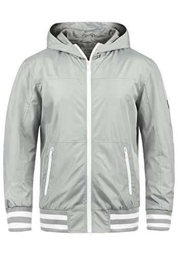 Blend Novan Herren Übergangsjacke Herrenjacke Jacke Mit Kapuze, Größe:XL, Farbe:Stone Grey (75117)