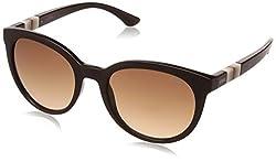 IDEE Gradient Round Womens Sunglasses - (IDS2267C2SG|54|Brown Gradient Color)