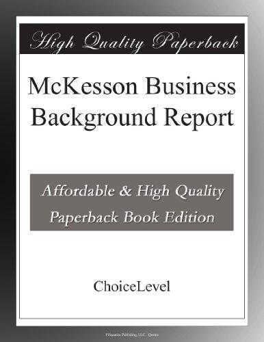 mckesson-business-background-report