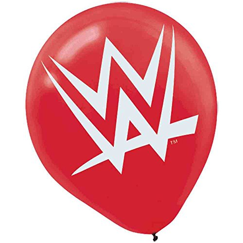' WWE Printed Birthday Party Latex Balloons Decoration (6 Pack), 12