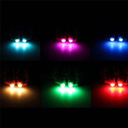 Pu Ran 2Pcs Magic Super Bright Light Up Thumbs Fingers Party Club Christmas Trick - Random Color