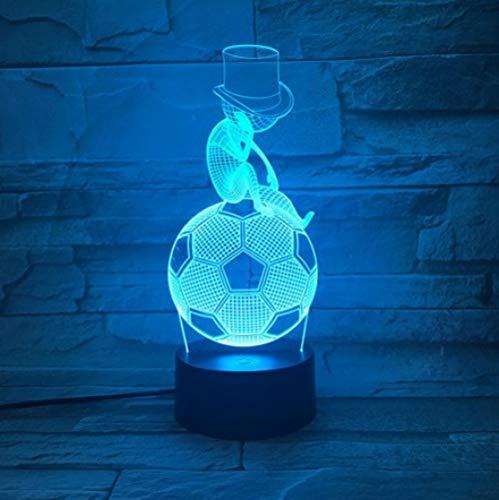 Joplc Vatertagsgeschenk Denken Fußball Junge 3D LED Lampe Kinder Touch USB Tischlampe Baby Schlafen Nachtlicht Schule Geschenk