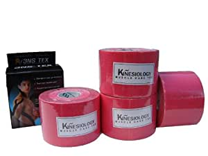 4x Pink Rollen 3NS Kinesiologie-Taping Sport Tape