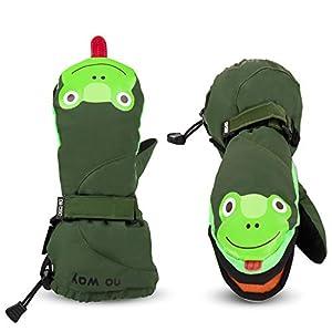 Kinderhandschuhe Wasserdicht skihandschuhe mit der Magnetstreifen-Technik kann öffnen und schließen zum einfach Zugang und Spaß, Fäustlinge für 3-14 Jahre Mädchen Jungen, Weihnachten Geschenk
