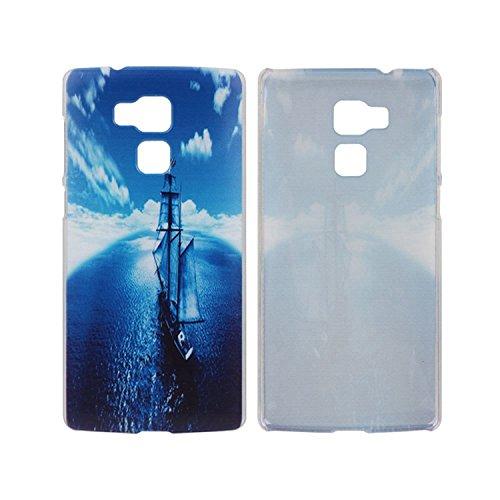 Guran® Hart Plastik Schutzhülle Case Cover für Vernee Apollo Lite Smartphone Cartoon Hülle Etui-Segelboot