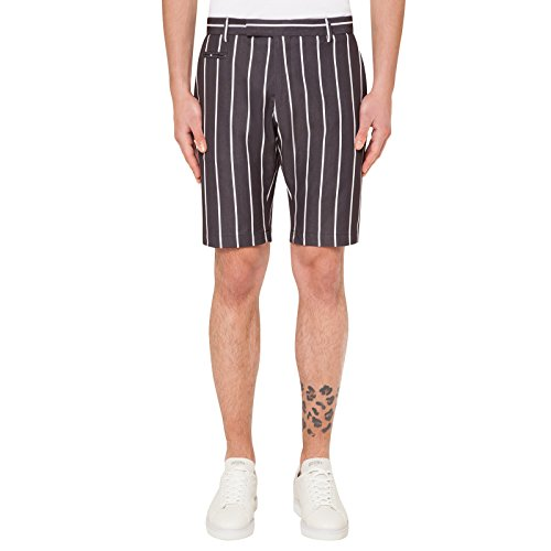 TWO ITALIAN BOYS - Uomo Vice Short Black Stripes Black
