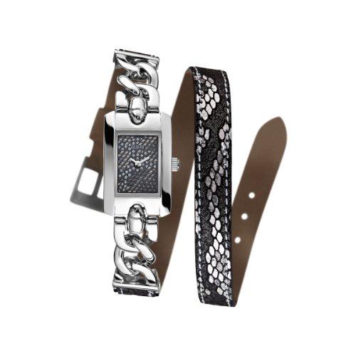 Guess Slinky W0053L1 - Reloj analógico de cuarzo para mujer, correa de diversos materiales multicolor