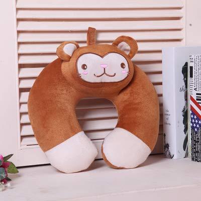 BAI HONG Kissen Travel u-Shaped Pillow Neck Pillow car travel Aircraft Siesta Pillow Coffee Monkey 30 * 30cm
