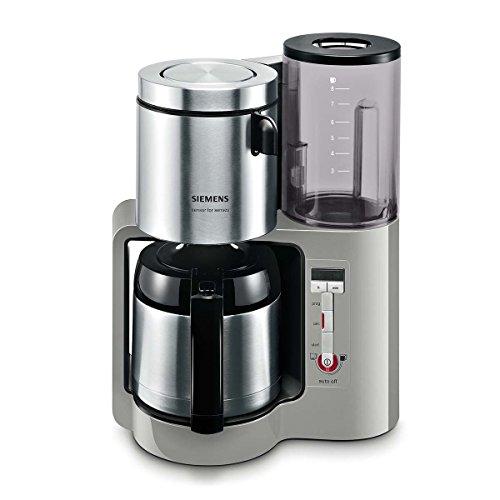 Design Kaffeemaschine (Siemens TC86505 Kaffeemaschine (1100 Watt max, 8/12 Tassen, Edelstahl Thermokanne) urban grau)