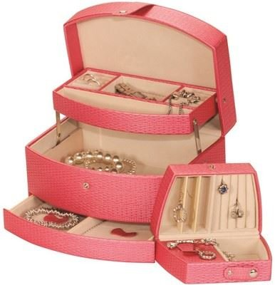 mele-co-pink-fashion-jewellery-box-with-auto-drawer-travel-jewel-case-polly-5107
