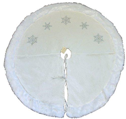 48 Inch Beautiful White Christmas Tree-Rock - Mit Schneeflocken - Schneeflocke Baum Rock