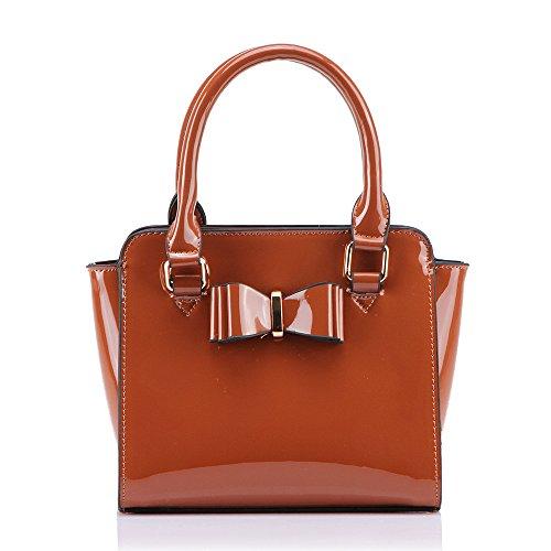 LeahWard® MINI Bogen-Beutel Klein Größe Niedlich Patent Bogen Handtaschen Umhängetasche (Bogen-abend-tasche)