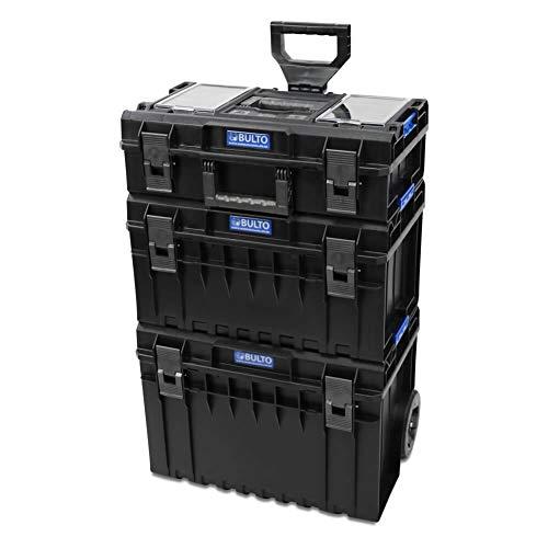 BULTO Werkzeugroller C1 PRO Werkzeugkoffer Trolley System - 3 stapelbare Boxen - Werkzeugbox Werkzeugkiste -