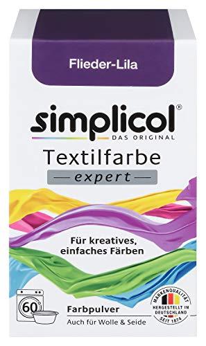 Simplicol Textilfarbe Expert für Kreatives, Einfaches Färben, Flieder-Lila 1707: Farbe für Waschmaschine Oder manuelles Färben
