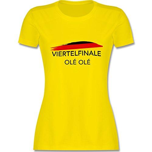 EM 2016 - Frankreich - Deutschland Viertelfinale Olé Olé - tailliertes Premium T-Shirt mit Rundhalsausschnitt für Damen Lemon Gelb