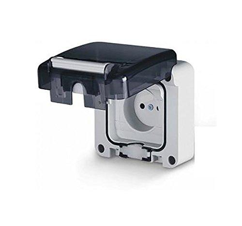Feuchtraum Aufputz Schuko Feuchtraum Steckdose IP66 1-fach Feuchtraumsteckdosen Aufputz