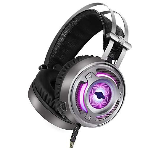 00 Tv-ständer (Unbekannt Dean Gaming-Headset, Cool LED Light 7.1-Kanal, ultraleichtes Material, Stereo Entertainment, Special Silver Light Purple)