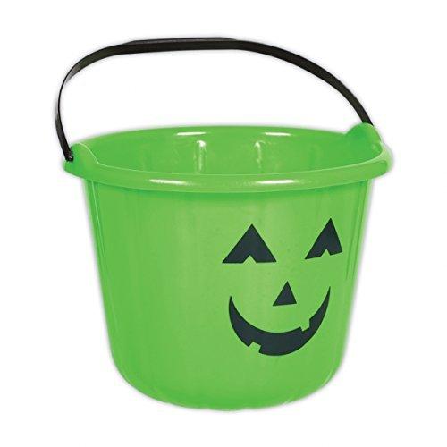 Amscan Green Pumpkin Halloween-Trick or Treat-Eimer, 6 Stück