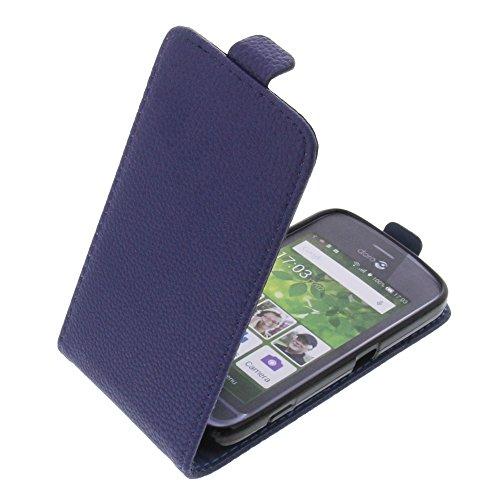 foto-kontor Tasche für Doro Liberto 820 Mini Smartphone Flipstyle Schutz Hülle dunkelblau