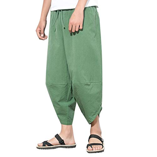 Herren Sommer Individuelle Hosen mit weiten Beinen Casual Fashion Harlem Pants Personalized Wide Leg Pants Casual Cropped Trousers Rot Schwarz Grün Grau M/L/XL/2XL/3XL/4XL -