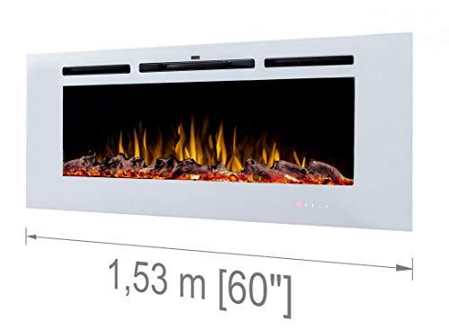 Noble Flame Paris White 1530 Cheminée électrique Murale Suspendue
