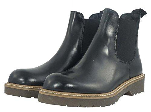 Stivali alla caviglia Soldini donna numero 35 19679NERO in pelle neri, woman boots shoes black leather