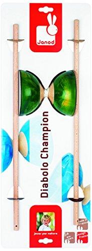 Janod J03104 - Diabolo Champion Holz, blau (Champion Sport Seil)