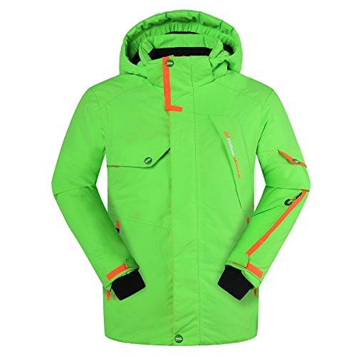 Phibee Jungen Wasserdicht Atmungsaktiv Snowboard Skijacke Grün 146-152