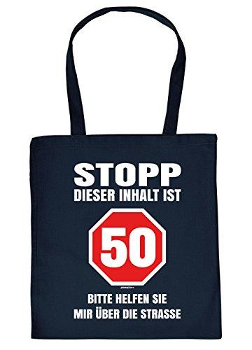 sche/Sprüche-Tasche Thema Geburtstag: Stopp Dieser Inhalt ist 50 Bitte helfen sie mir über die Straße (50 Geburtstag Party-themen Für Sie)